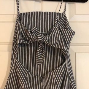 Dresses & Skirts - Adorable striped dress with tie back 🎀